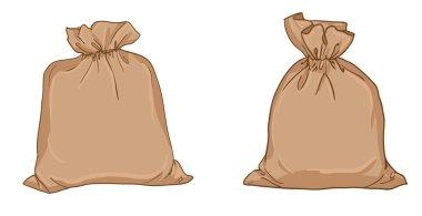 Canvas sacks isolated