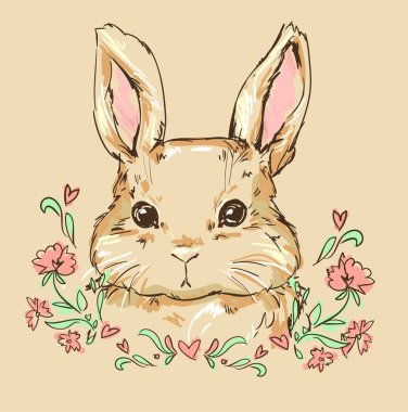 Hand Drawn cute bunny