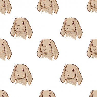 Cute hare pattern