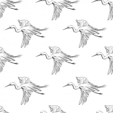 flying storks pattern
