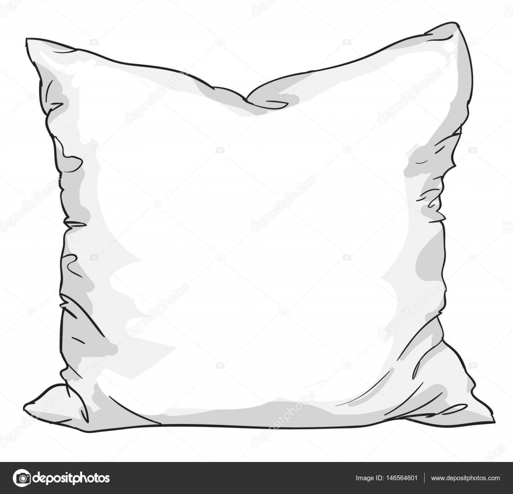 sketch of bed pillow — Stock Vector © AlsouSh #146564601