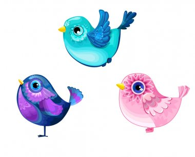 Cute colorful birds