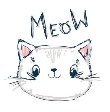 funny cartoon kitten