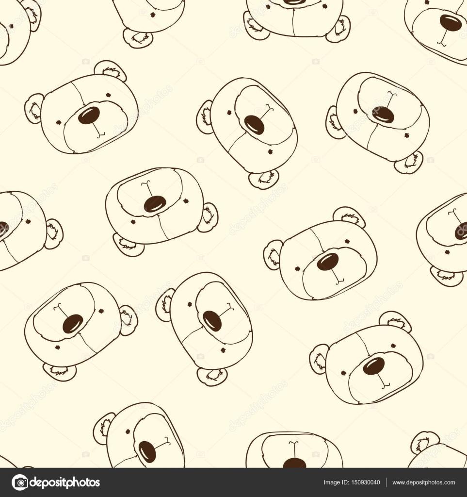 osos de peluche lindo patrón sin costuras — Vector de stock ...