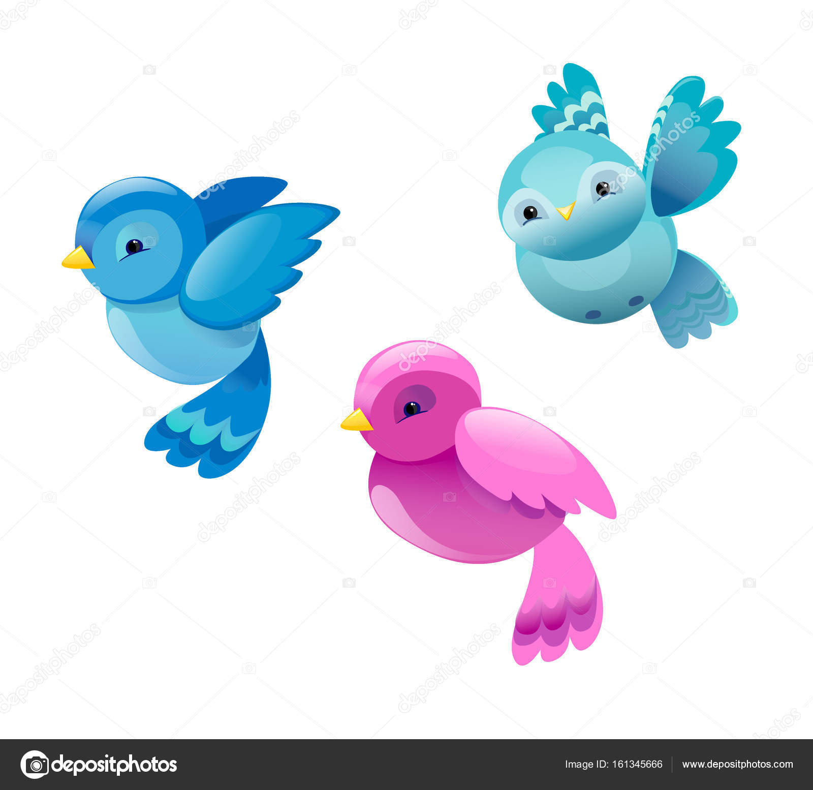 Colorful Cartoon Birds Stock Vector C Alsoush 161345666