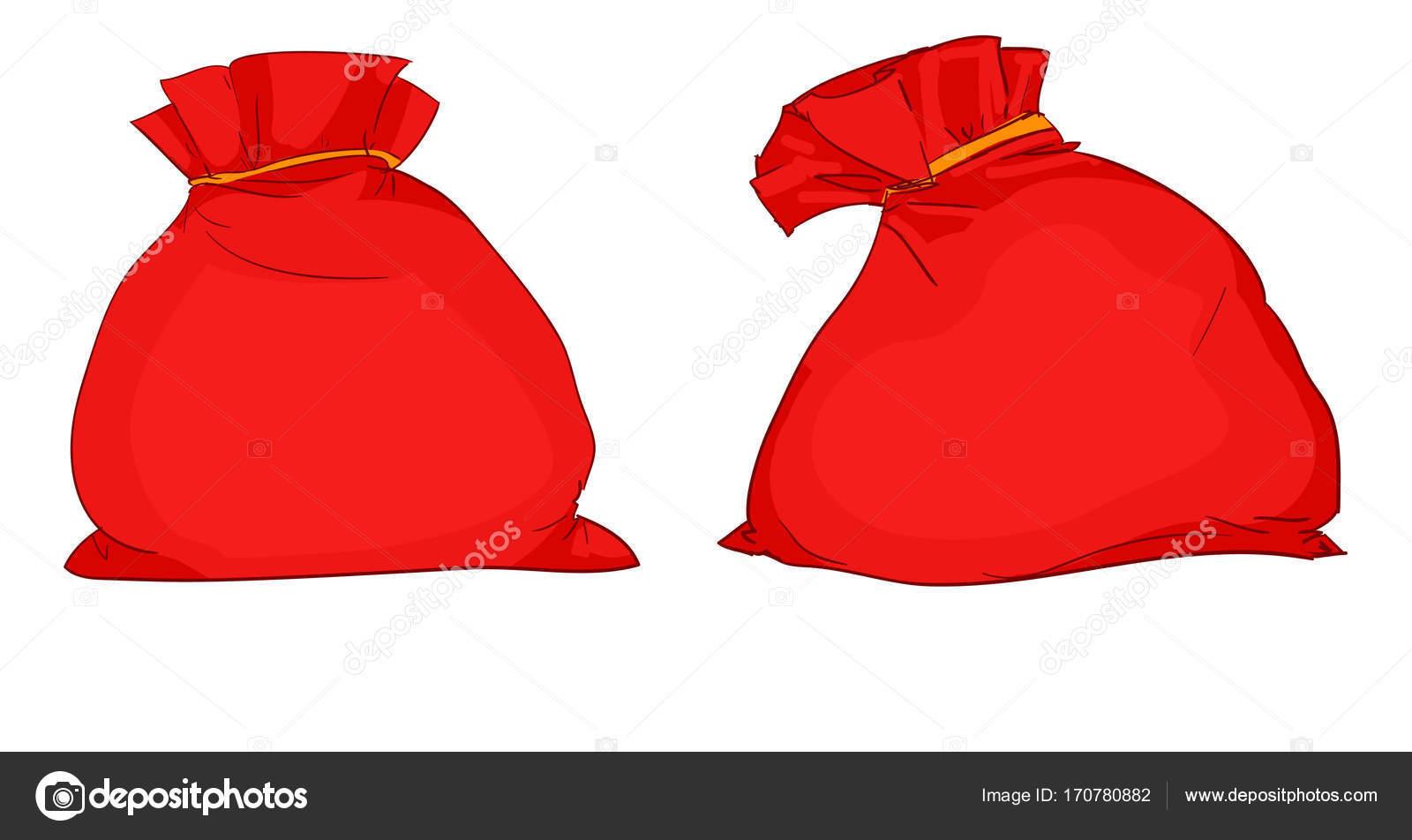 zwei rote Säcke Santa — Stockvektor © AlsouSh #170780882