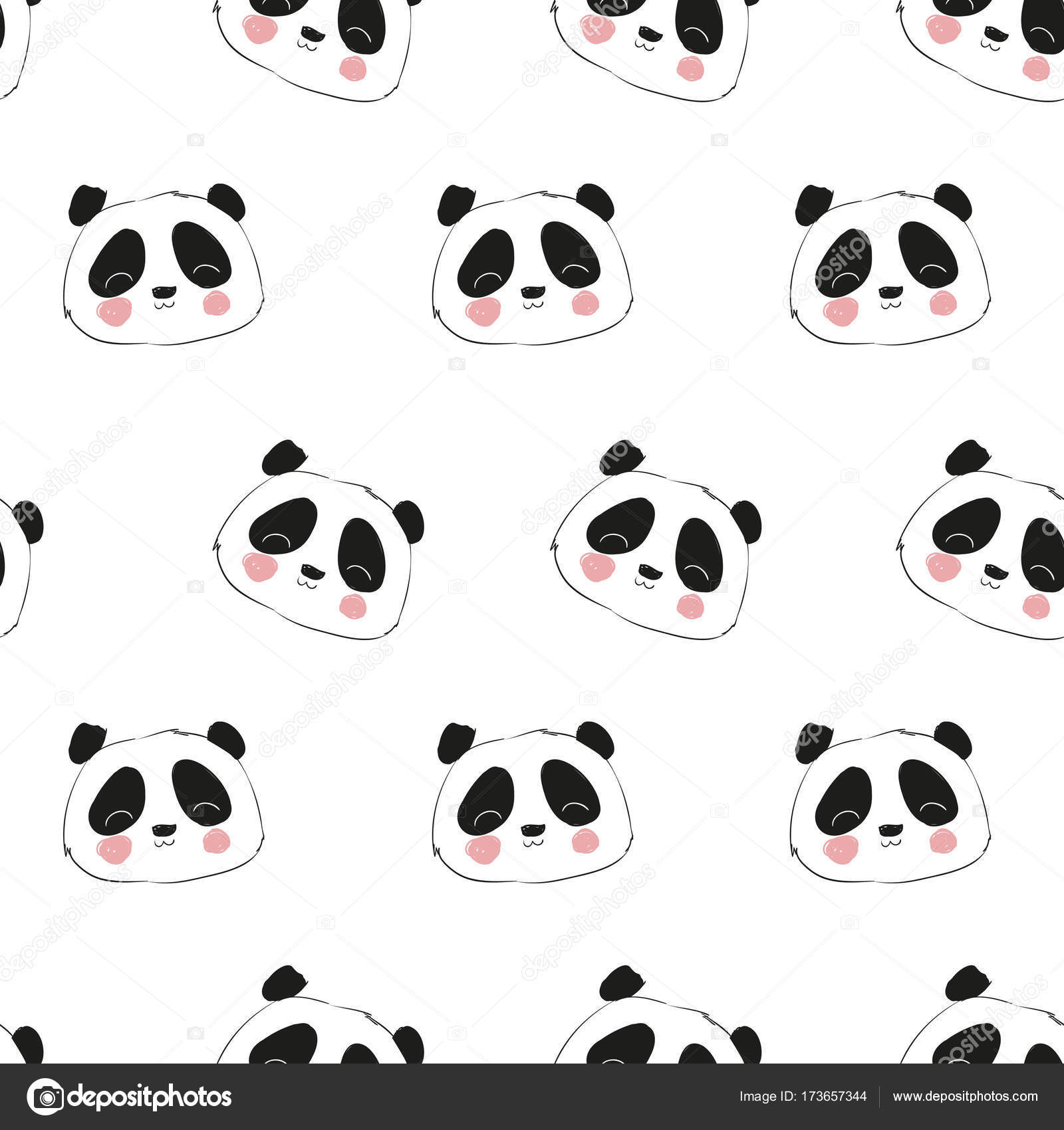 patrón sin costuras Panda — Vector de stock © AlsouSh #173657344