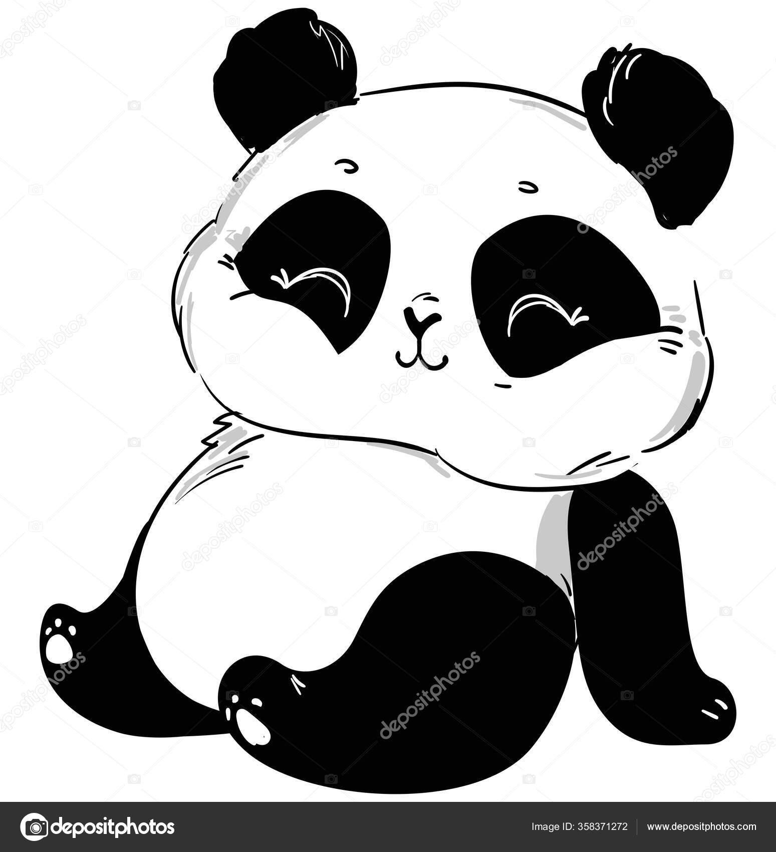 Cute Panda Vector Children Print Shirt Stock Vector C Alsoush 358371272
