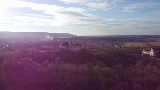 Ukrainische Burg in olesko Luftaufnahme, oleskiy zamok