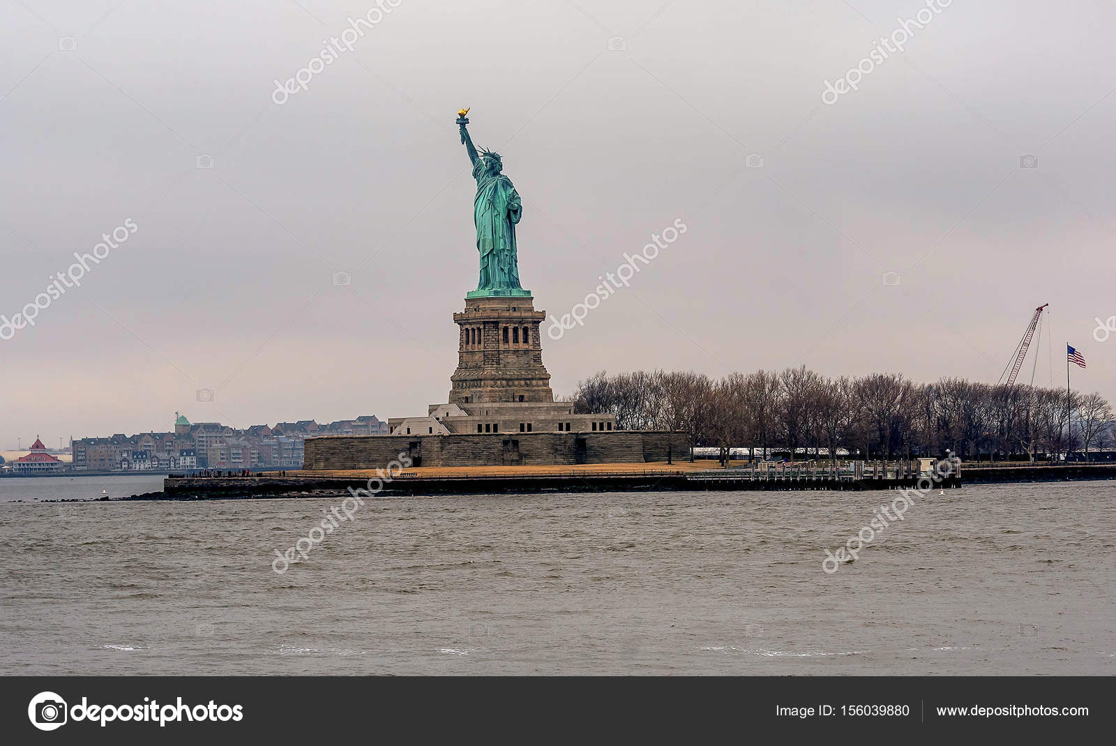 Statue Of Liberty From The Ferry Boat New York City Stock