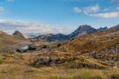 Paesaggio con le montagne del Parco nazionale di Durmitor, Montenegro