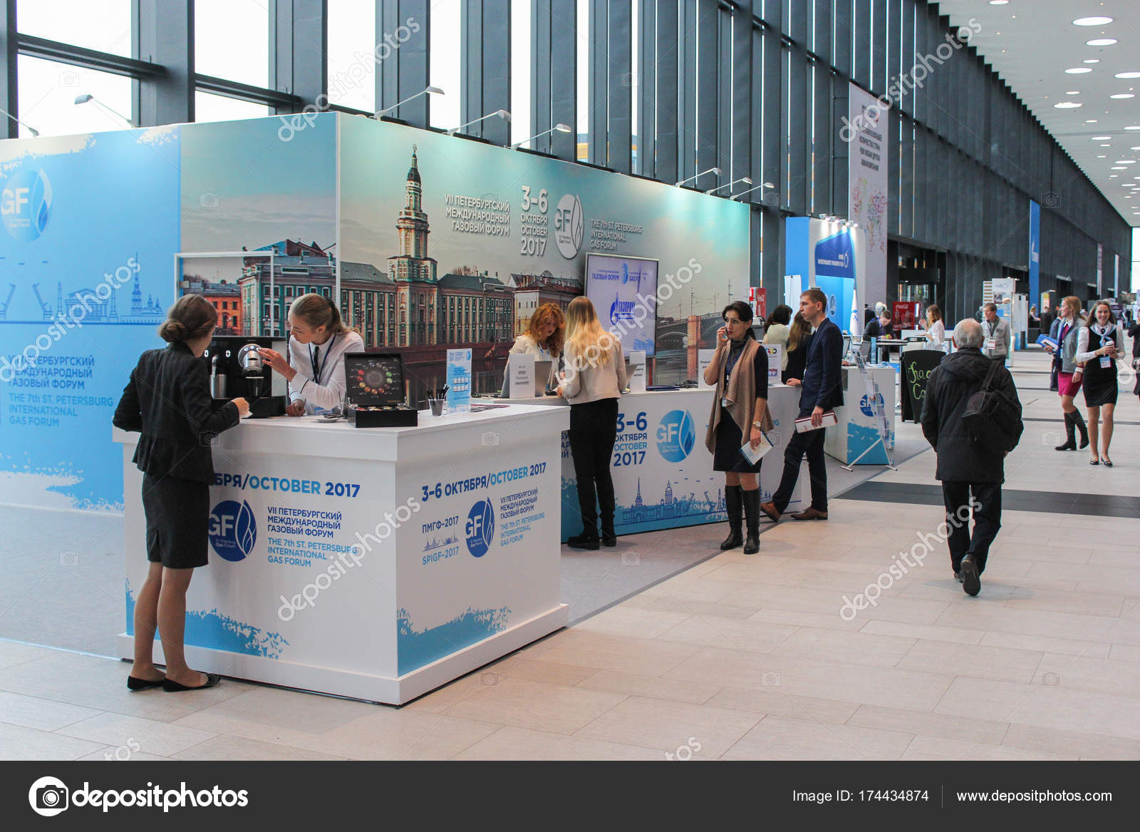 Photography Expo Stands : People at the stands stand. u2013 stock editorial photo © nikey #174434874