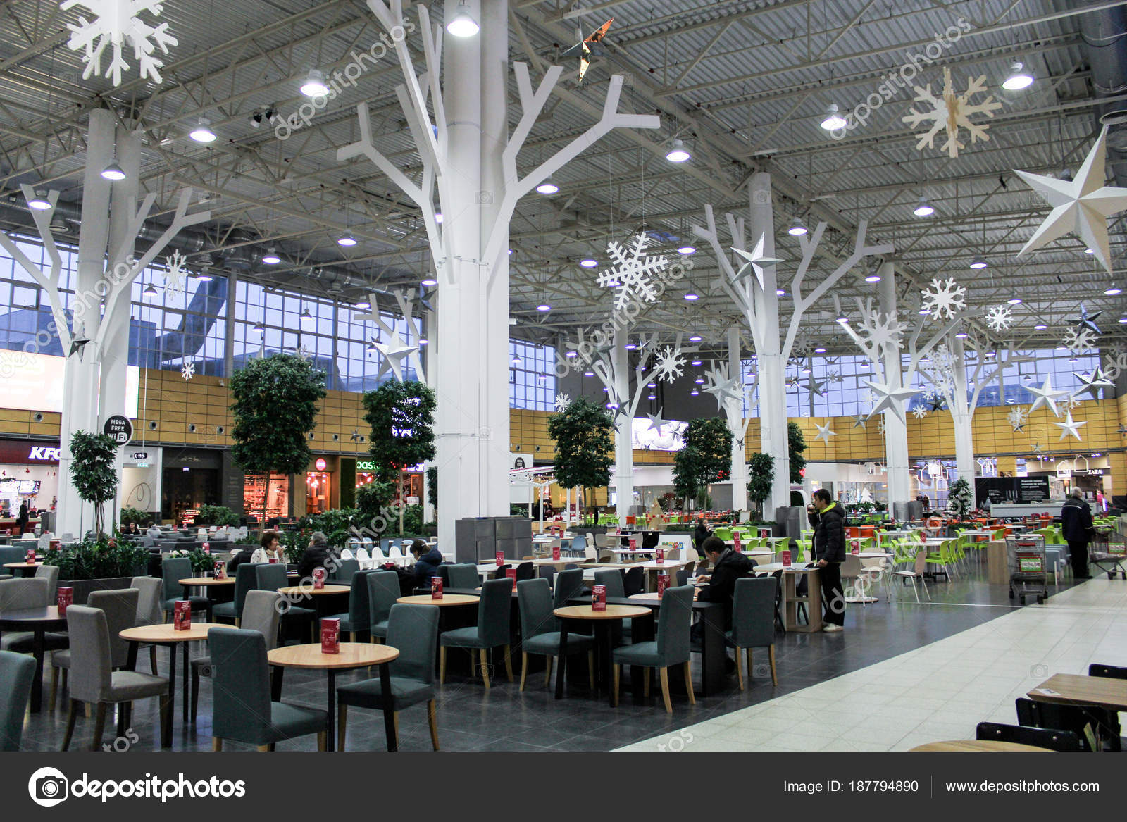 New Year S Decoration Of The Cafe Area Stock Editorial Photo C Nikey 187794890
