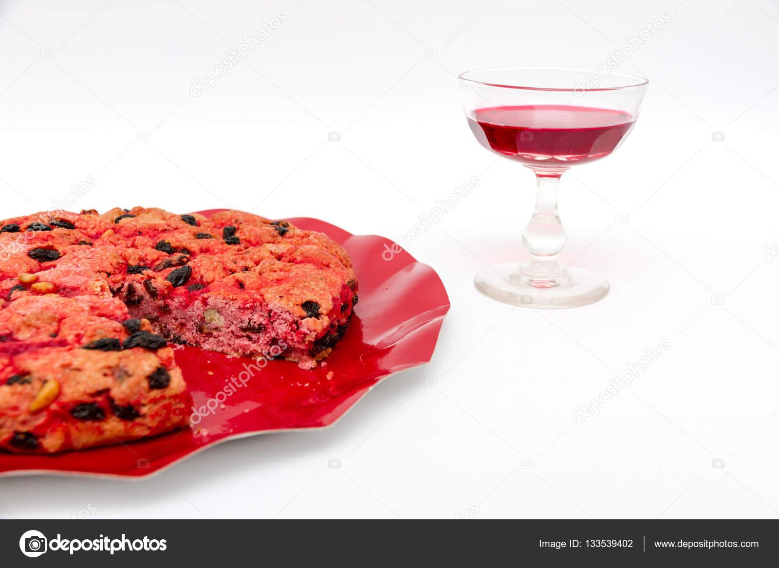 Betrunken Kuchen Ist Ein Dessert Aus Elba Insel U2014 Stockfoto