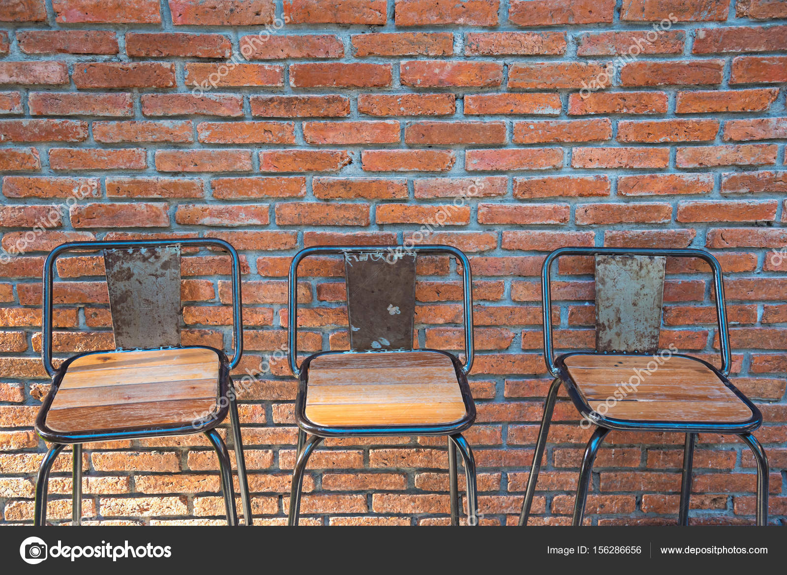 Bar With Brick Wall Bar Counter On Red Brick Wall Background Stock Photo C Kwanchaidp 156286656