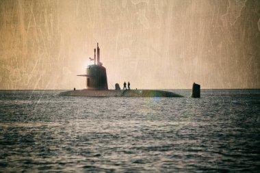submarine, tekstyrnaya photo processing