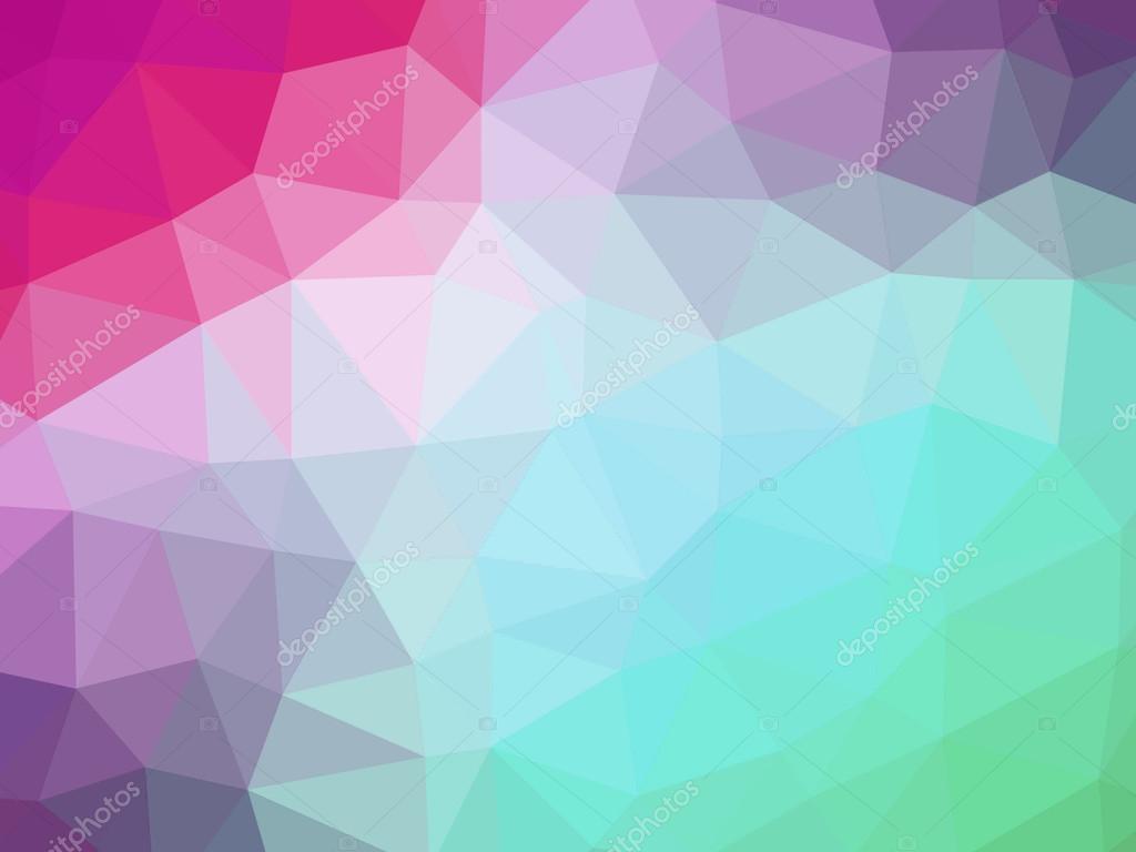 Fond En Forme De Polygone Dégradé Rose Vert Photographie Winterbee