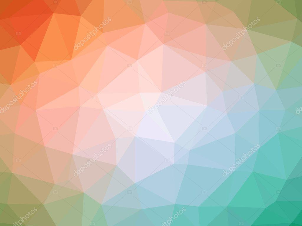 Fond En Forme De Polygone Dégradé Orange Teal Photographie