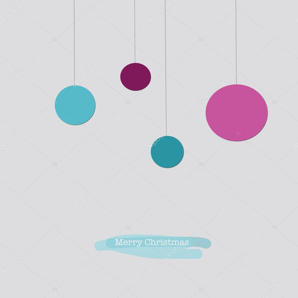 Moderne Christbaumkugeln.Elegante Moderne Weihnachtskarte Mit Blau Und Rosa Weihnachten B