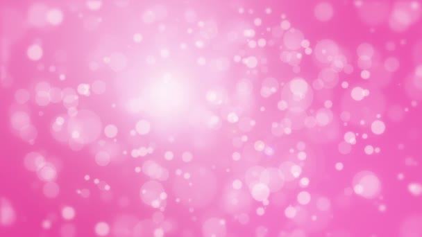 Pink background with light bokeh particles