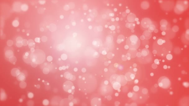 Red background with light bokeh particles