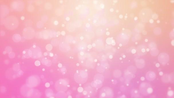 Romantikus rózsaszín narancssárga háttér mozgó részecske fények