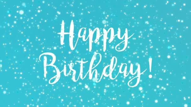 Jiskřivý tyrkysově modré všechno nejlepší k narozeninám blahopřání video