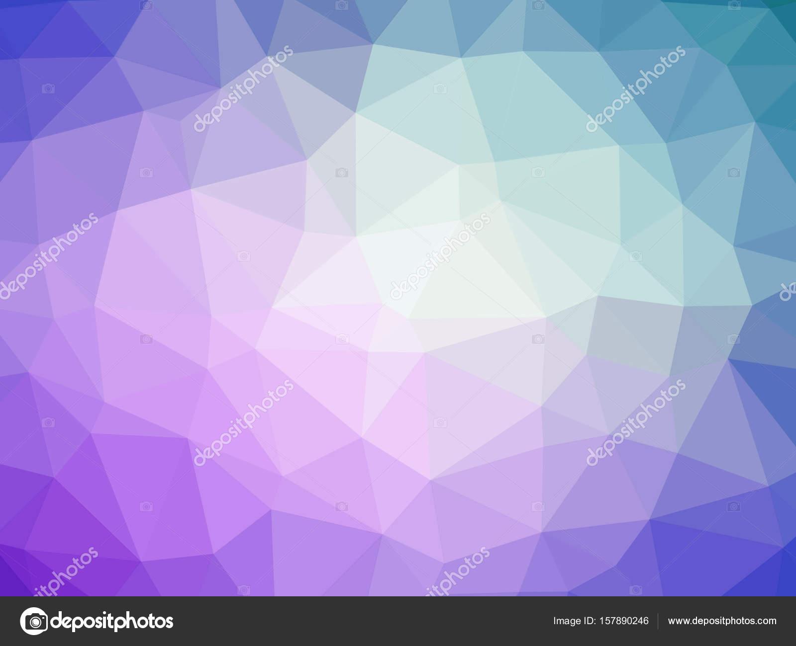Abstrait Violet Bleu Dégradé Polygone En Forme Darrière Plan