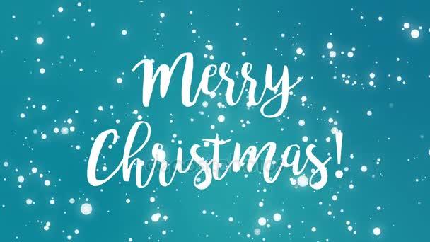 Kékeszöld kék boldog karácsonyt üdvözlőlap videóinak