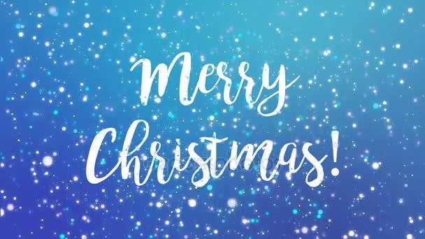 Jiskřivý modrý veselé Vánoční blahopřání video