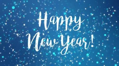 Happy new year 2017 greeting card on purple background with border sparkly blue happy new year greeting card video m4hsunfo