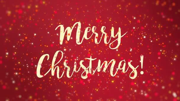 Funkelnde rote Frohe Weihnachten Grußkarte video — Stockvideo ...