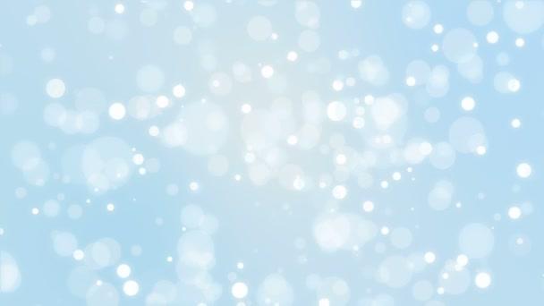 modrá zimní bokeh pozadí