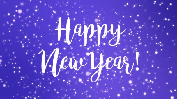 sparkly purple happy new year greeting card video animation handwritten stock video 176487322