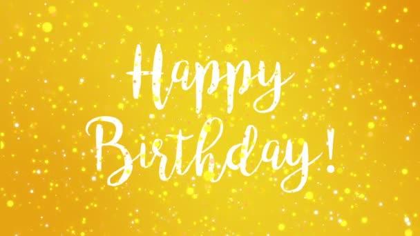 Sparkly yellow happy birthday greeting card video animation sparkly yellow happy birthday greeting card video animation handwritten text stock video m4hsunfo