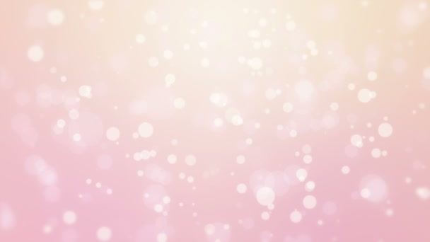 Glowing abstract pink yellow background with flickering bokeh lights.
