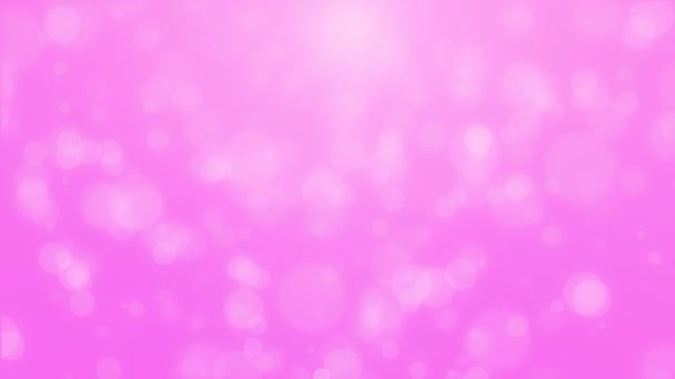 Animated romantic bright pink background with glowing light bokeh particles.