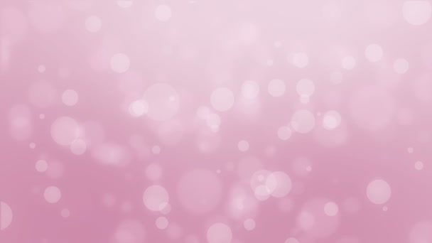 Dreamy animated light pink bokeh background with floating light particles.