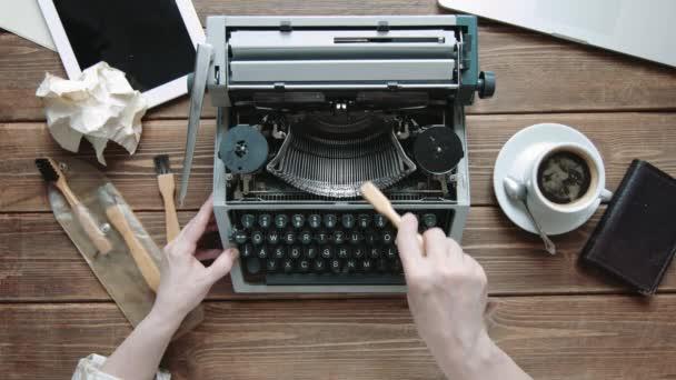 A gép retro írás író.