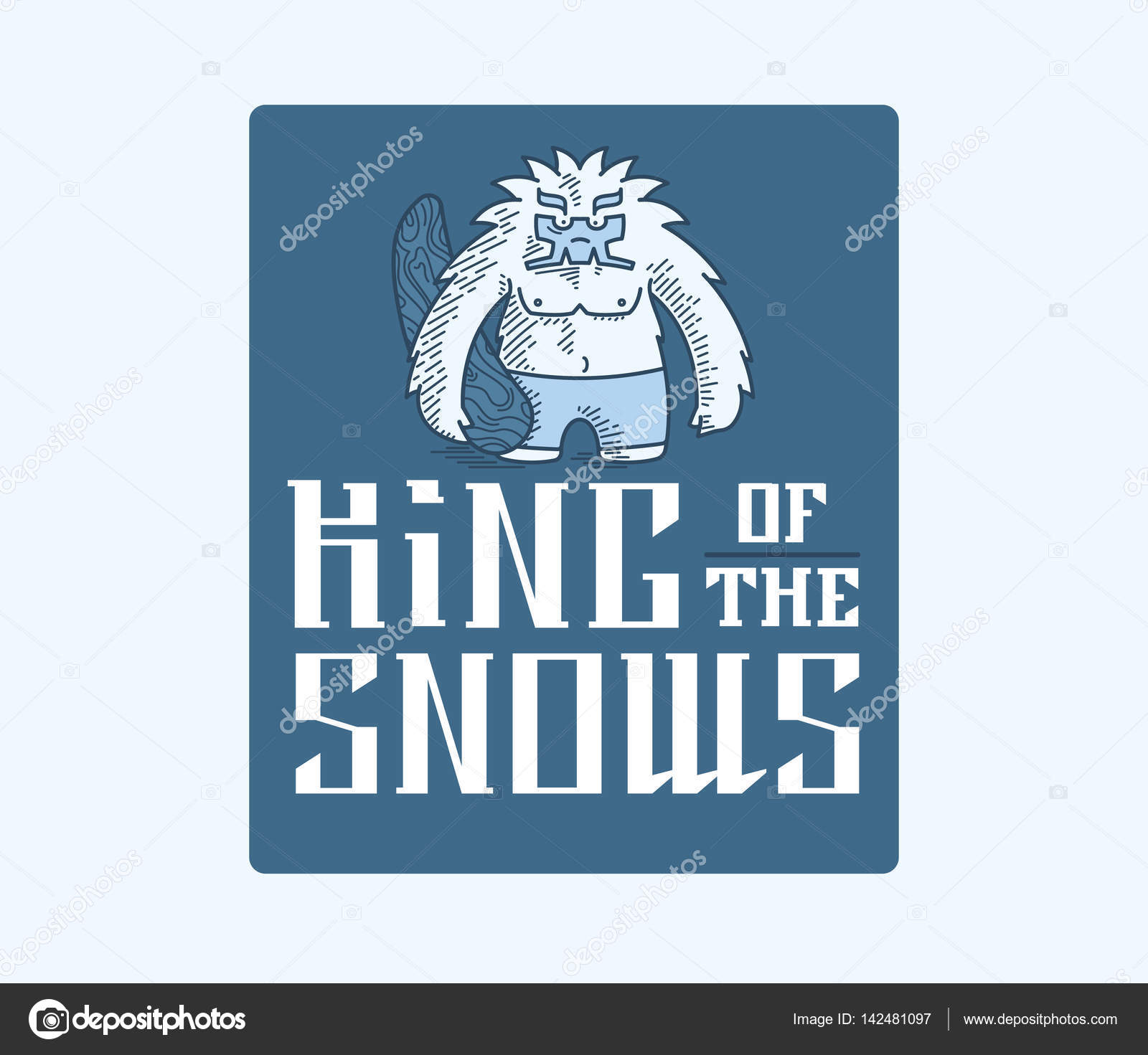 Yeti King of the snows — Stock Vector © PennaPazza #142481097