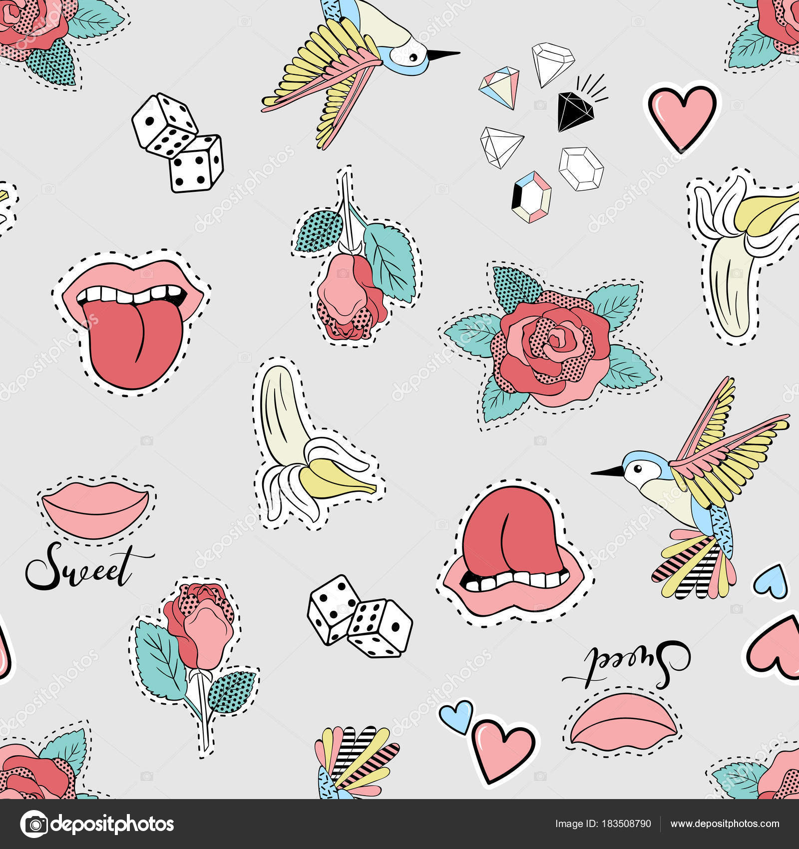 Patrones de frutas para bordar a mano | Vector ilustración de ...