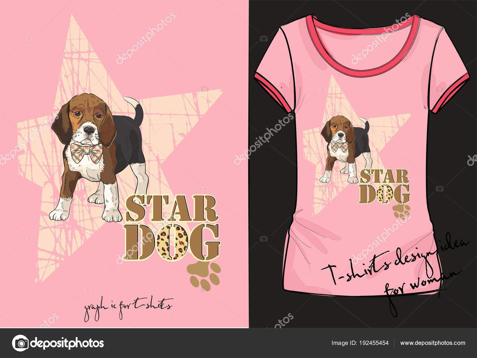 Vector Illustration Of Trendy Sketch Womens Short Sleeve Shirt With