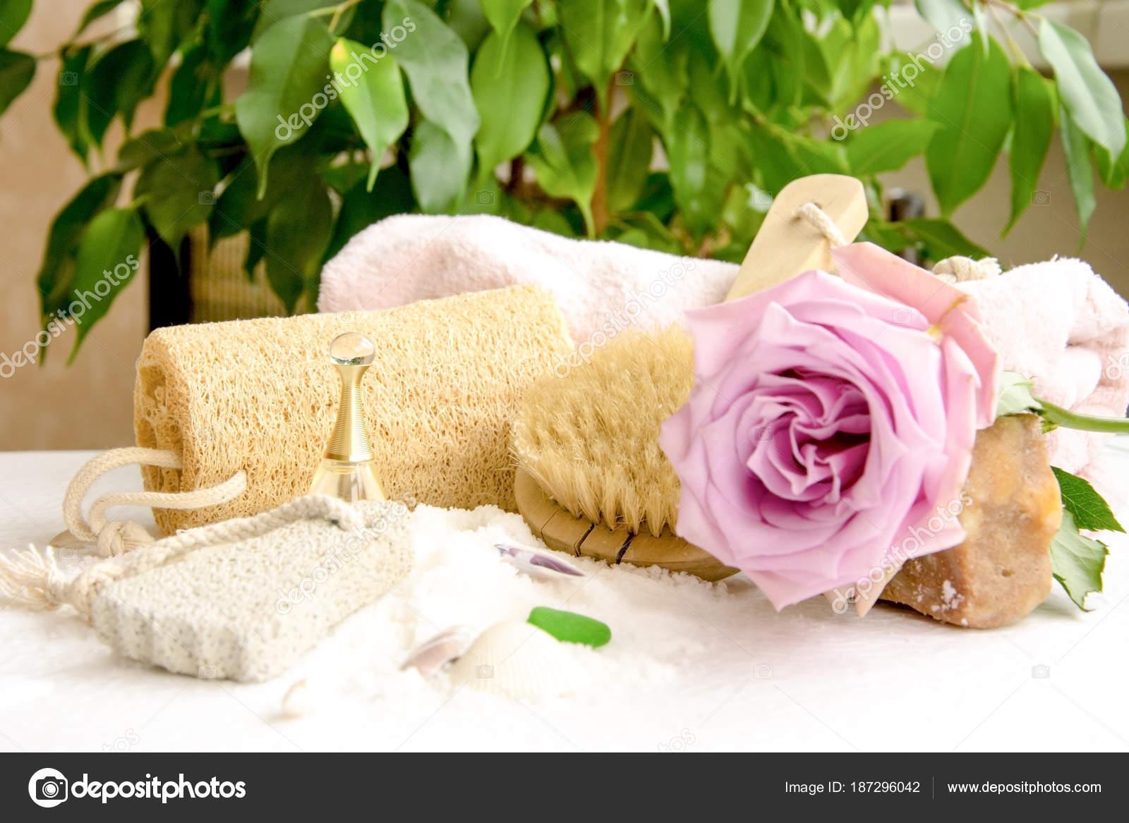 Fleur Pour Salle De Bain ~ cristaux de sel de mer pour salle de bain pierre ponce luff rose