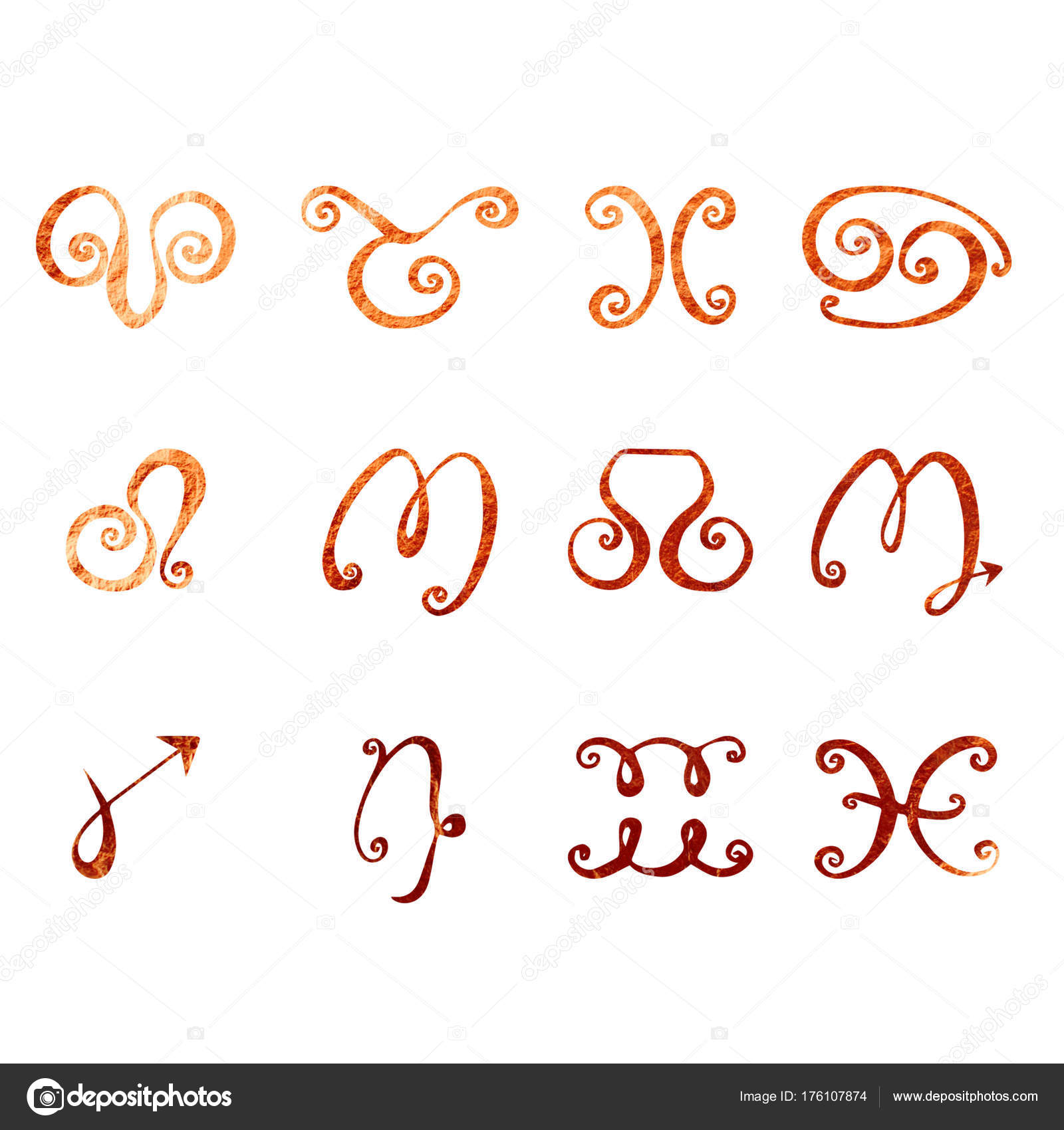 Horoscope texture of copper stock photo veronikas 176107874 horoscope texture of copper stock photo buycottarizona Image collections