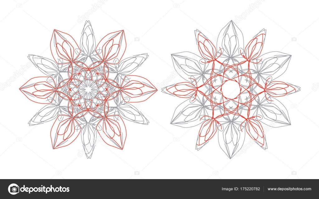Indische Mandalas Ornamente Stockvektor Yarkova 175220782