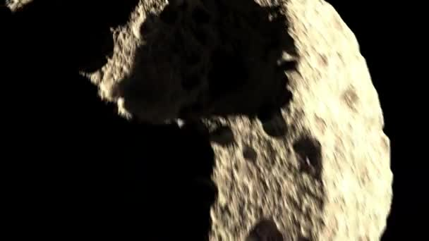 A large asteroid flies to the planet earth