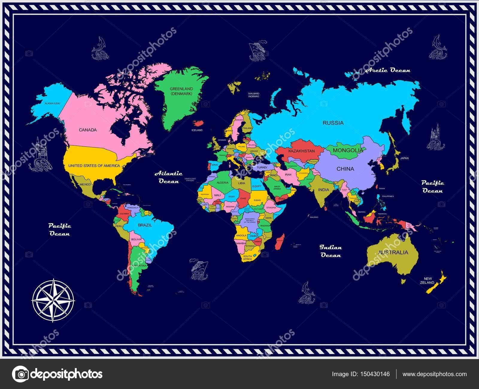 die weltkarte die Weltkarte — Stockvektor © Caribia #150430146 die weltkarte