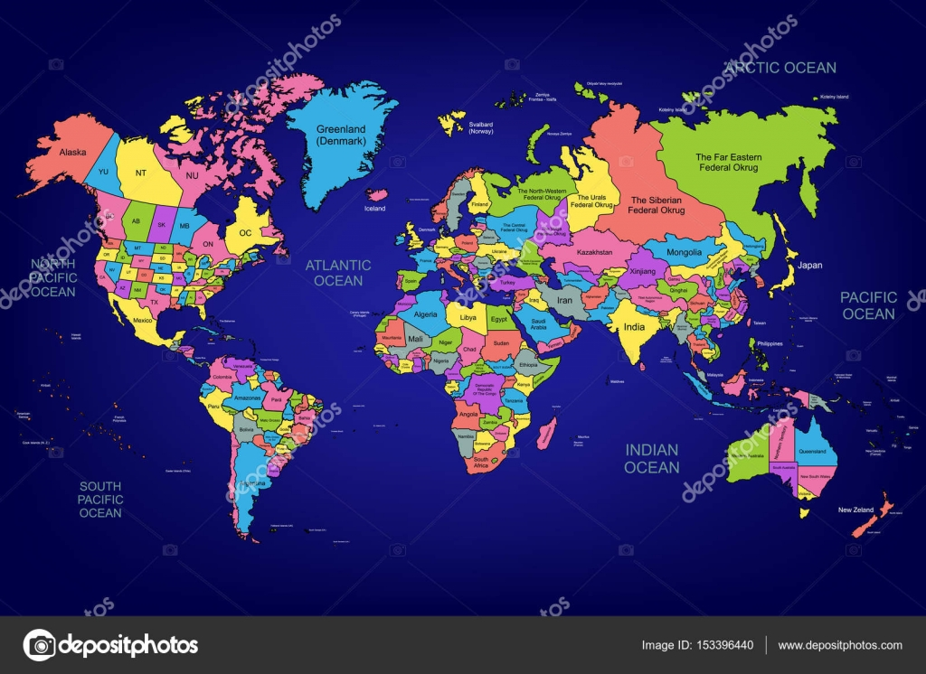 The World Map Stock Vector C Caribia 153396440