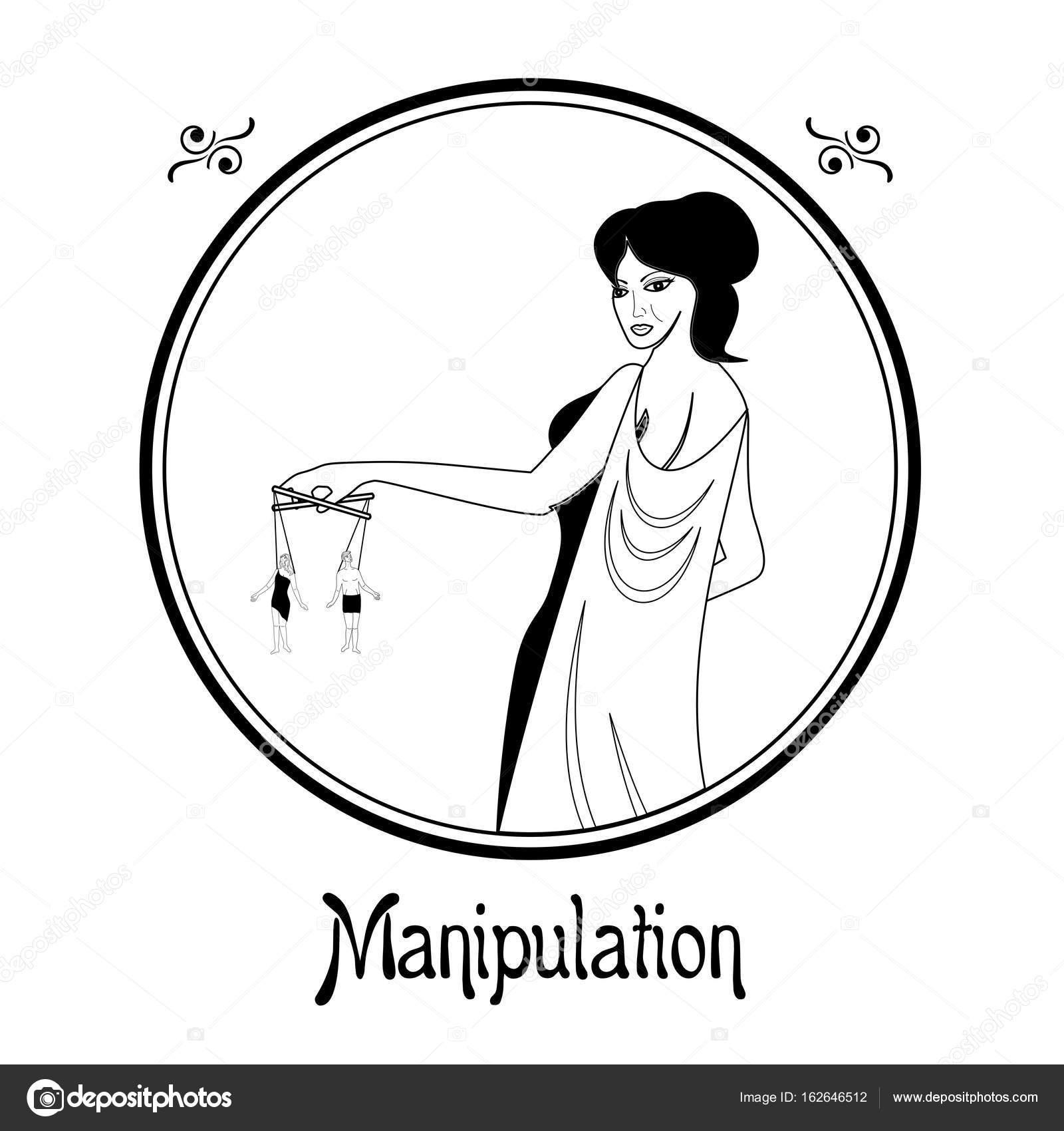 The manipulation sin — Stock Vector © Caribia #162646512