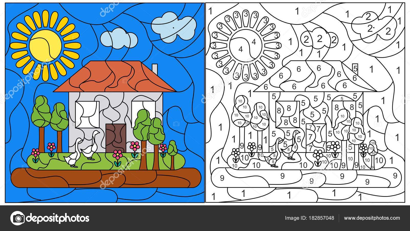 Kind-Mosaik-Karte — Stockvektor © Caribia #182857048